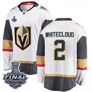 Fanatics Branded Zach Whitecloud Vegas Golden Knights Youth Breakaway White Away 2018 Stanley Cup Final Patch Jersey - Gold