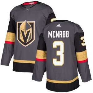 Adidas Brayden McNabb Vegas Golden Knights Men's Authentic Gray Jersey - Gold