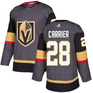 Adidas William Carrier Vegas Golden Knights Men's Authentic Gray Jersey - Gold