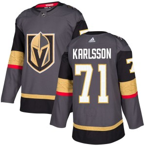 Adidas William Karlsson Vegas Golden Knights Men's Authentic Gray Jersey - Gold
