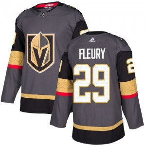 Adidas Marc-Andre Fleury Vegas Golden Knights Youth Authentic Gray Home Jersey - Gold