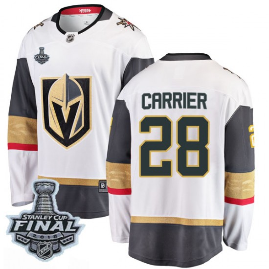 Fanatics Branded William Carrier Vegas Golden Knights Men's Breakaway White Away 2018 Stanley Cup Final Patch Jersey - Gold
