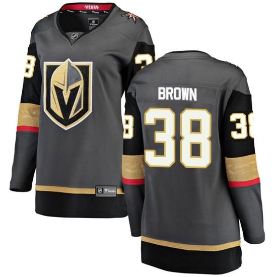 Fanatics Branded Patrick Brown Vegas Golden Knights Women's ized Breakaway Black Home Jersey - Gold