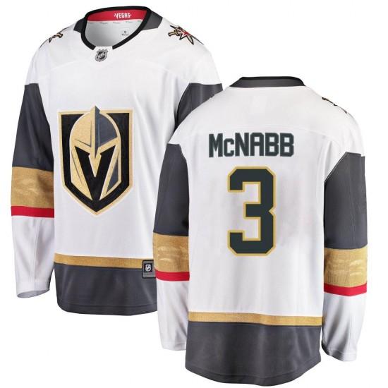 Fanatics Branded Brayden McNabb Vegas Golden Knights Youth Breakaway White Away Jersey - Gold