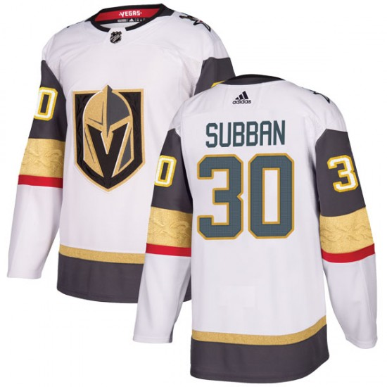 43ddf81e9 Adidas Malcolm Subban Vegas Golden Knights Youth Authentic White Away Jersey  - Gold
