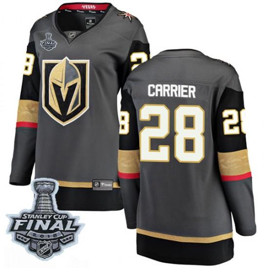 Fanatics Branded William Carrier Vegas Golden Knights Women's Breakaway Black Home 2018 Stanley Cup Final Patch Jersey - Gold