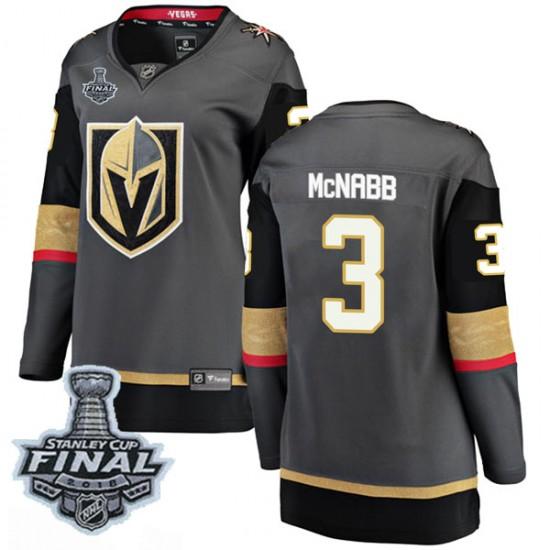 Fanatics Branded Brayden McNabb Vegas Golden Knights Women's Breakaway Black Home 2018 Stanley Cup Final Patch Jersey - Gold