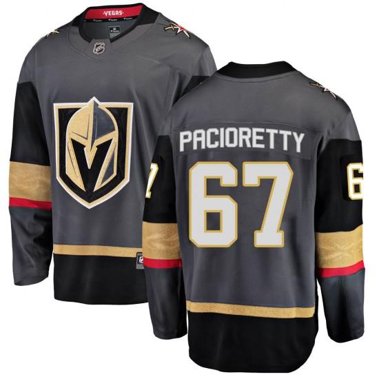 Fanatics Branded Max Pacioretty Vegas Golden Knights Men's Breakaway Black Home Jersey - Gold