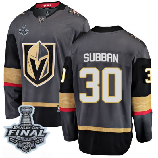 the latest 14ab9 31249 Fanatics Branded Malcolm Subban Vegas Golden Knights Youth Breakaway Black  Home 2018 Stanley Cup Final Patch Jersey - Gold