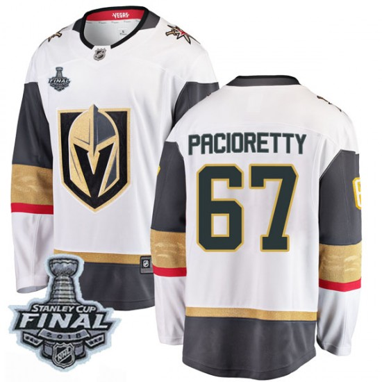 Fanatics Branded Max Pacioretty Vegas Golden Knights Youth Breakaway White Away 2018 Stanley Cup Final Patch Jersey - Gold