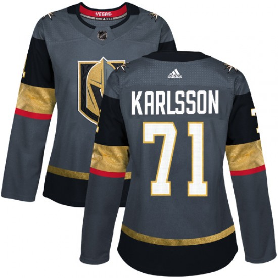 Adidas William Karlsson Vegas Golden Knights Women's Authentic Gray Home Jersey - Gold